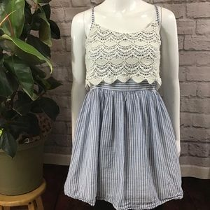 🧨SALE! 3/$20 Striped blue & white summer top 🍃